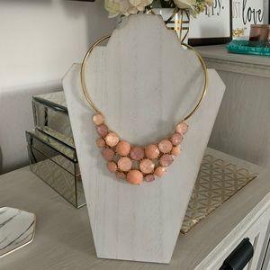 Kate Spade Pink Bib Statement Necklace